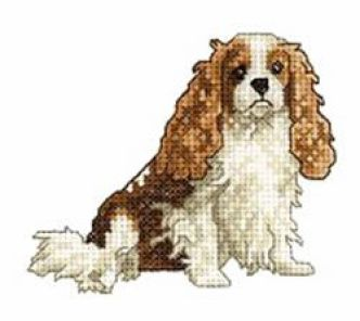 King Charles Spaniel Embroidery Pattern