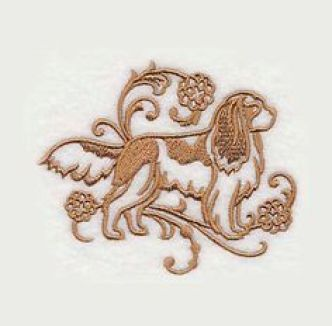 Spaniel Embroidery Pattern