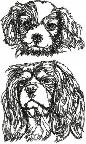 King Charles Spaniel Embroidery